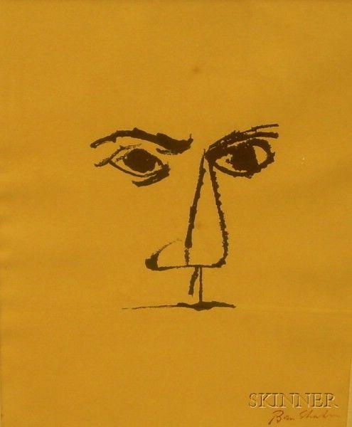 Ben shahn print on poster board