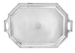 An American Art Deco Silver Serving Tray