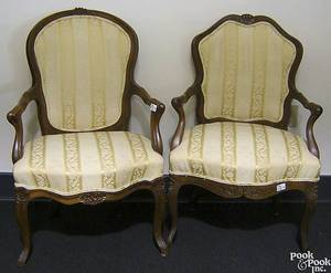 Two French Provincial armchairs