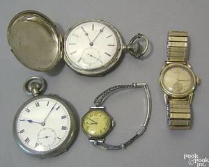 14K gold mens Hamilton wrist watch