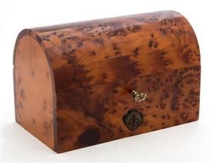 A Burlwood Table Casket