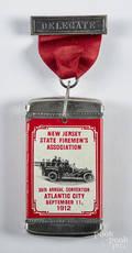Unusual  New Jersey State Firemens Association  match vesta safe