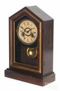Rosewood veneer mantel clock
