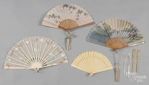 Oriental hand fans