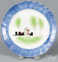 Blue spatter fort plate