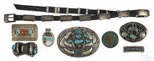 Native American Indian silver and turquoise jewelry