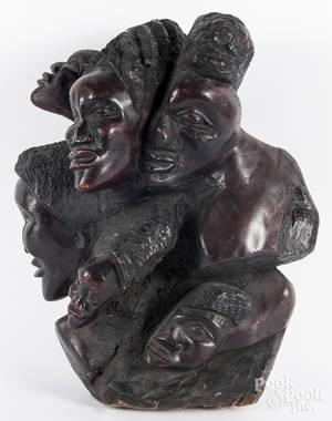 African carved wood figural sculpture