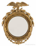 Federal style giltwood convex mirror
