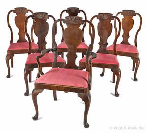 Set of six Berkey  Gay mahogany dining chairs
