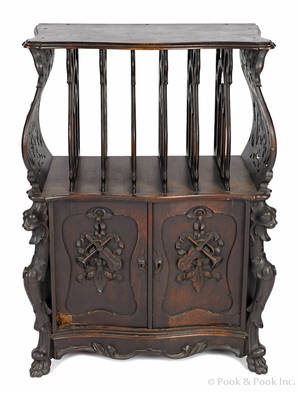 Victorian walnut music stand