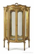 French giltwood vitrine