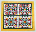Three contemporary pieced quilts