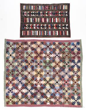 Victorian log cabin variant quilt