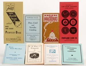 Miscellaneous Group of Nine Vintage Gambling Supply
