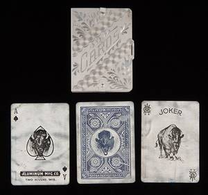 Aluminum Mfg Co Pan American Aluminum Playing Cards
