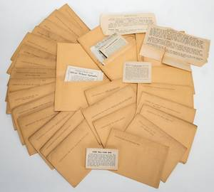 Group of 77 KC Card Co Instruction Envelopes for Use