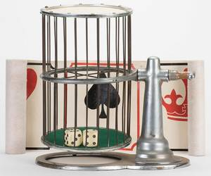 ChuckaLuck Cage with Two Dice and Crown and Anchor