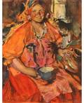 ABRAM EFIMOVICH ARKHIPOV RUSSIAN 18621930 A Smiling Village Woman
