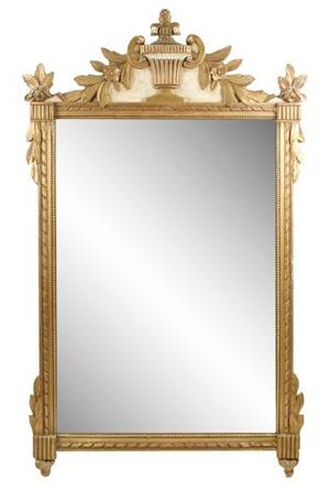 Louis XVI Style Giltwood Rectangular Mirror