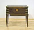Mahogany lap desk on frame