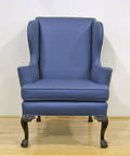Kittenger Chippendale style wing chair