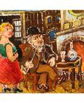 DAVID BURLIUK RUSSIAN 18821967 Old Man and Young Woman
