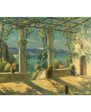 GEORGI ALEXANDROVICH LAPCHINE RUSSIAN 18851950 Amalfi Coast