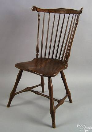 Pennsylvania painted fanback windsor side chair ca 1795