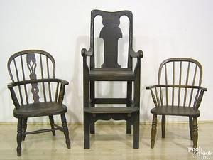 English oak highchair 19th c