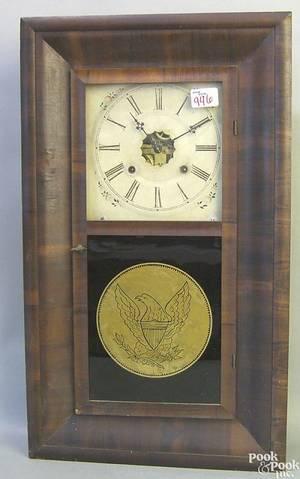 Ansonia mahogany veneer mantle clock