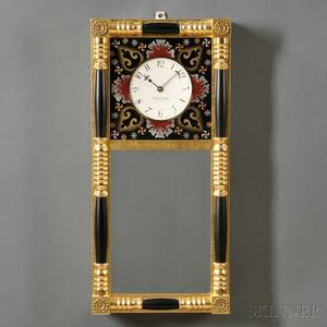 Gilt Front New Hampshire Mirror Clock by Foster Campos