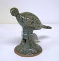 Cleater Meaders stoneware bird on stump
