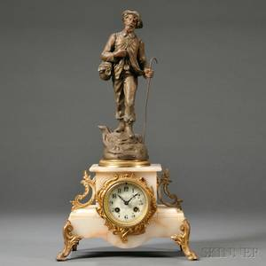 Figural French Mantel Clock