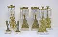 Five gilt metal girandoles