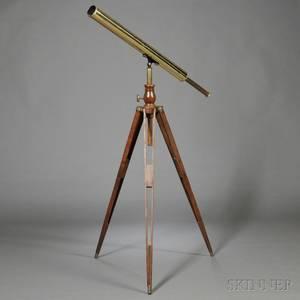 2 34inch S Thaxter  Son Brass Telescope