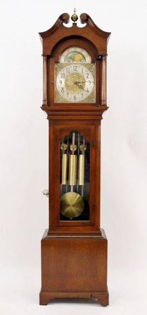 Revere Mahogany Wood Cased Grandfather Clock