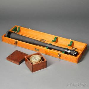 US Navy Spyglass and Ships Compass