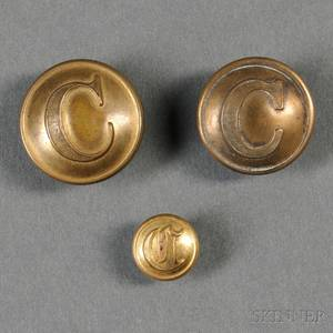 Three Confederate Cavalry Buttons