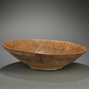 Handhewn Oblong Burl Bowl