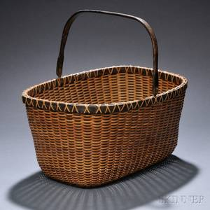 Oblong Swinghandled Nantucket Basket