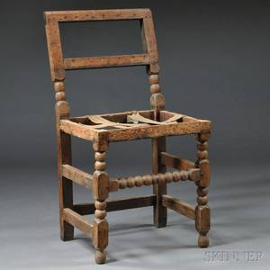 Maple and Oak Lowback Chair