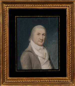 Attributed to James Sharples Sr AngloAmerican 1751521811 Portrait of a Gentleman with a Sideways Glance