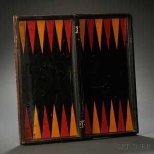 Polychrome Painted Folding Game Board