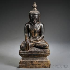 Lacquered and Parcelgilt Figure of Sakyamuni