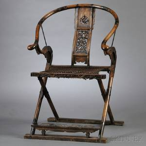Folding Horseshoeback Armchair