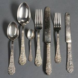 Gorham Old Medici Pattern Sterling Silver Flatware Service