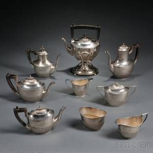 Assembled Eightpiece Gorham Sterling Silver Tea and Coffee Service