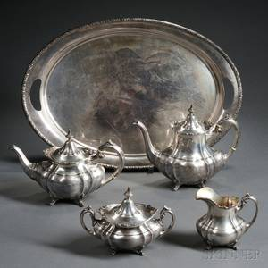 Assembled Fivepiece American Sterling Silver Tea and Coffee Service