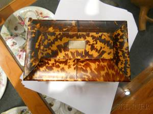Tortoiseshell Ivory and Bone Tea Caddy