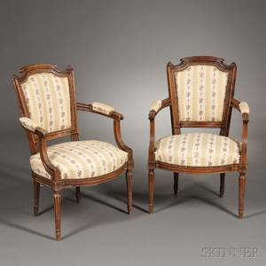 Pair of Louis XVIstyle Beechwood Fauteuil